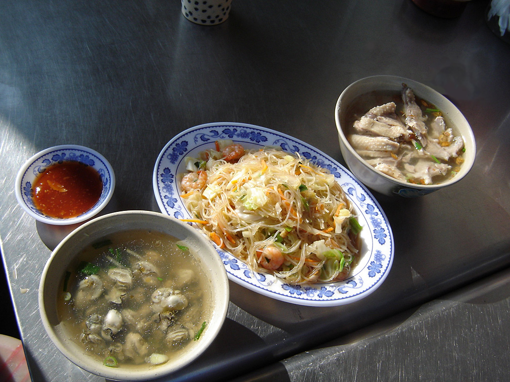 Typical Taiwan meal