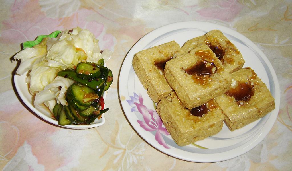 Taiwan deep-fried stinky tofu